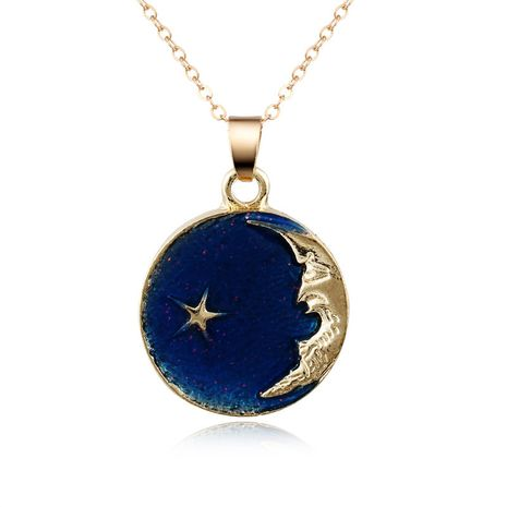 New fashion dream planet necklace oil drop color universe pendant necklace nihaojewelry wholesale NHGO213405's discount tags
