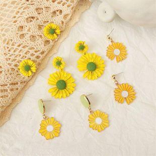Korean cute 925 silver needle daisy earrings for women wholesale NHLA207156's discount tags