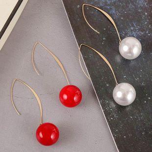 New Korean simple long pearl earrings for women wholesale NHLA207157's discount tags