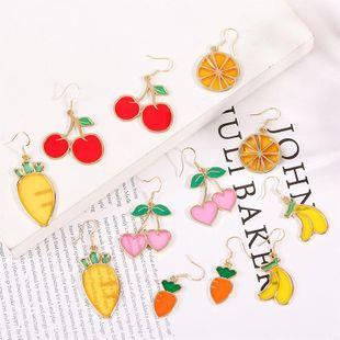 925 Silver Hook Korean Cute Dripping Cherry Fruit Earrings for Women Wholesale NHLA207158's discount tags