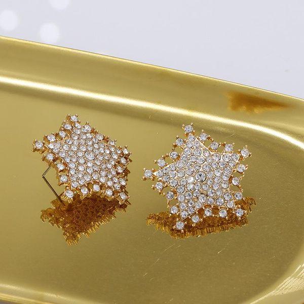 New Exaggerated Stud Earrings Star Diamond Earrings for Women Wholesale NHJJ207165