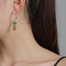 New fruit earrings diamond earrings pearl earrings pineapple earrings wholesale NHJJ207170