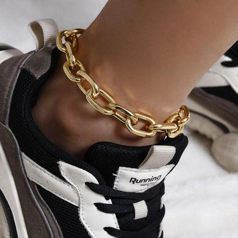 Rétro géométrique creux chaussures exagérées simple simple couche punk chaîne en métal cheville NHXR207190's discount tags