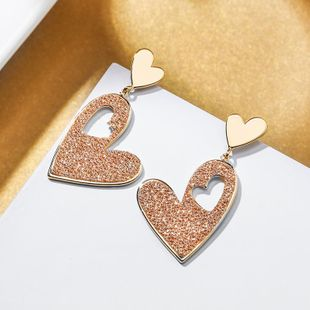 New 925 Silver Post Exaggerated Love Simple Earrings for Women Wholesale NHPP207206's discount tags