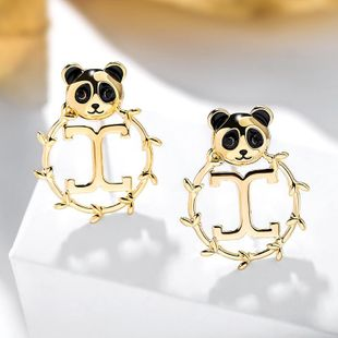 Nuevo Simple 925 Silver Post Wild Bear Earring Wholesale NHPP207212's discount tags