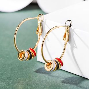 925 silver pin wild earrings female geometric round earrings wholesale NHPP207213's discount tags