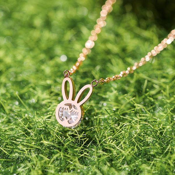 New simple rabbit pendant necklace for women wholesale NHPP207218