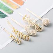 Korean fashion pearl edge clip cheap hairpin wholesale NHLN207237