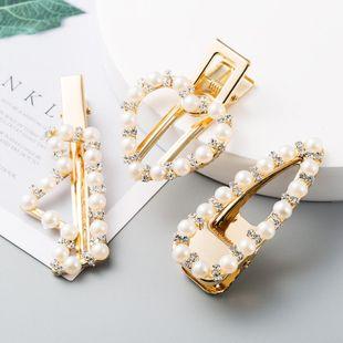Coreano geométrico horquilla horquilla perla rhinestone cheapBB clip al por mayor NHLN207239's discount tags