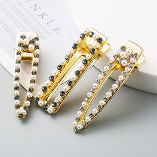 Aleación coreana con incrustaciones de perlas de diamantes de imitación horquilla barata al por mayor NHLN207240's discount tags