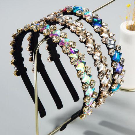 New fashion diamond hair accessories glass diamond baroque cheap headband wholesale NHLN207241's discount tags
