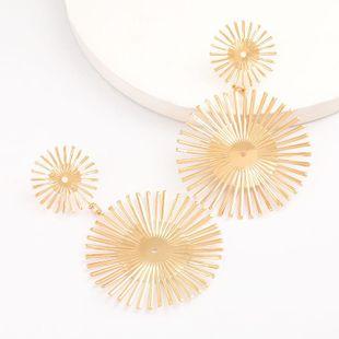 Multi-layer alloy sun flower earrings female retro ethnic style simple wild earrings for women wholesale NHJE207244's discount tags