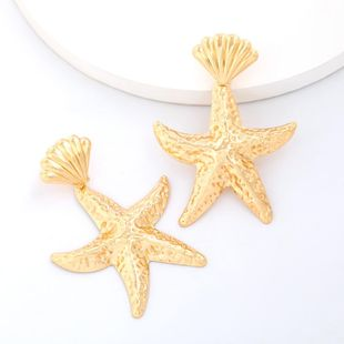 The new alloy starfish shell earrings for women wholesale NHJE207251's discount tags