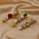 Wholesale of new simple crystal bowknot cheap hairpin NHNT207268