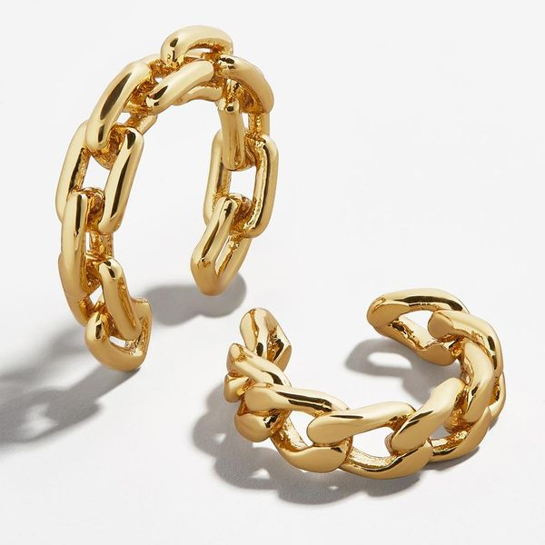 New fashion metal gold-plated hollow ladies ear clip C-ring buckle ear bone clip for women wholesale NHLL207280