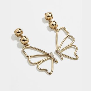 New gold-plated zircon fashion butterfly earrings for women wholesale NHLL207284's discount tags