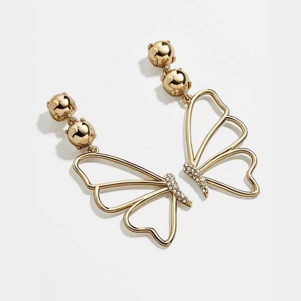 New gold-plated zircon fashion butterfly earrings for women wholesale NHLL207284