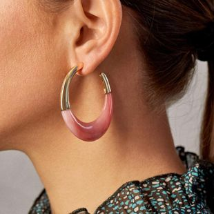 New fashion acrylic C-shaped large earrings wholesale NHLL207291's discount tags
