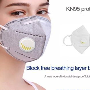 Kn95 Mascarilla de 6 capas con válvula de respiración equivalente a máscaras antipolvo FFP2 con máscara de válvula con protección Lote antipolvo facial NHAT207341