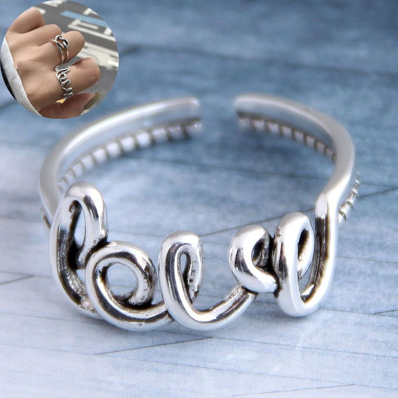 Fashion retro LOVE open ring yiwu nihaojewelry wholesale NHSC207499