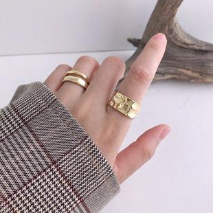 Anillo abierto de temperamento simple irregular de oro de moda yiwu nihaojewelry al por mayor NHSC207498's discount tags