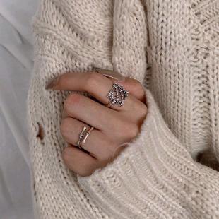 Moda retro love net anillo abierto yiwu nihaojewelry al por mayor NHSC207497's discount tags