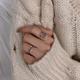 Fashion retro love net open ring yiwu nihaojewelry wholesale NHSC207497