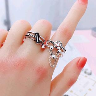 Moda simple retro smiley anillo abierto yiwu nihaojewelry al por mayor NHSC207496's discount tags