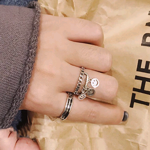 Moda retro smiley anillo abierto yiwu nihaojewelry al por mayor NHSC207495's discount tags