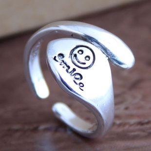 Moda retro smiley anillo abierto al por mayor NHSC207500's discount tags