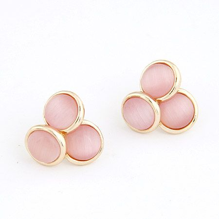 Boutique Korean fashion sweet and simple opal personalized earrings NHSC207527
