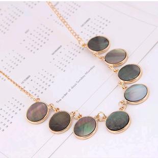 Exquisito collar de personalidad de temperamento de concha simple de metal de moda coreana NHSC207526's discount tags