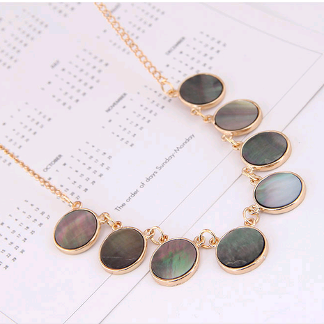 Exquisite Korean fashion metal simple shell temperament personality necklace NHSC207526's discount tags