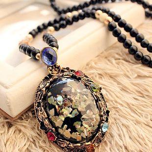 Moda coreana colorida concha colgante accesorios cristal perlas collar largo suéter cadena NHSC207524's discount tags