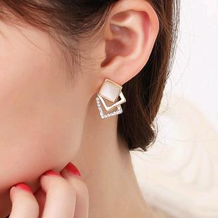 Pendientes de estilo coreano boutique con ópalo estéreo NHSC207523's discount tags