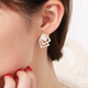 Boutique Korean fashion opal stereo cube earrings NHSC207523