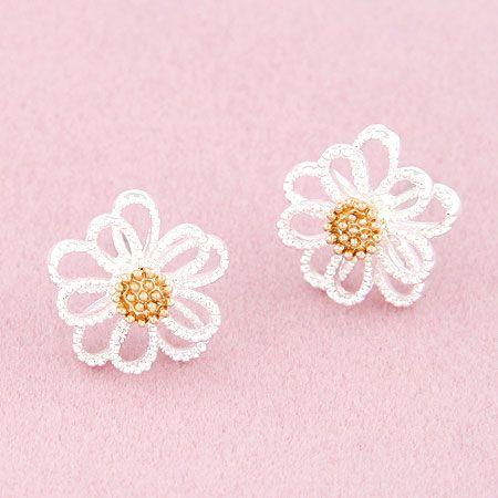 Boutique Korean fashion sweet and elegant Daisy flower earrings NHSC207520