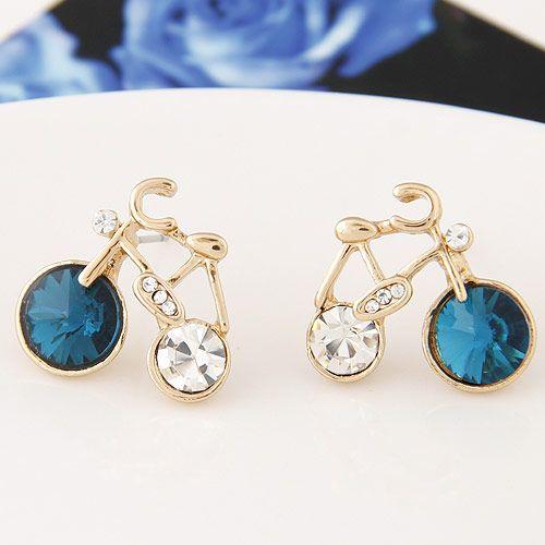 Boutique Korean fashion sweet bicycle earrings wholesale NHSC207519