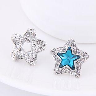 Pendientes de la personalidad de la estrella de la suerte de la moda coreana dulce del diamante del boutique OL NHSC207530's discount tags