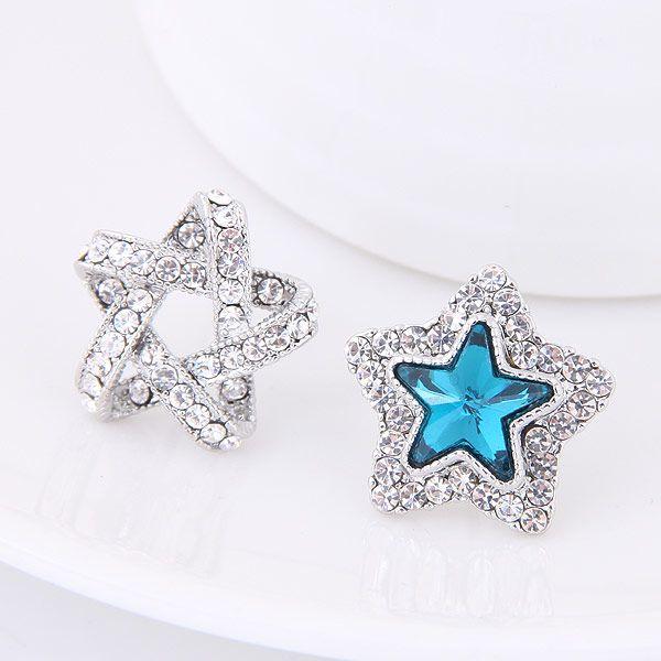 Pendientes de la personalidad de la estrella de la suerte de la moda coreana dulce del diamante del boutique OL NHSC207530