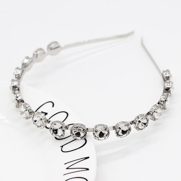 New Korean fashion diamond simple metal thin section cheap hair band wholesale NHWJ207376