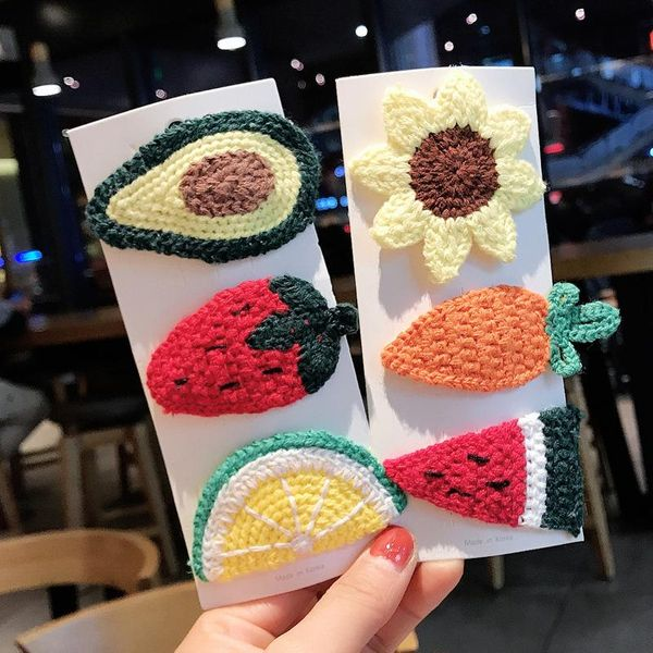 Fruit wool children's carrot hairpin strawberry cheap hairpin wholesale NHDQ207404