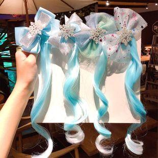 Corea nueva linda peluca niños bowknot horquilla barata al por mayor NHNA207440's discount tags
