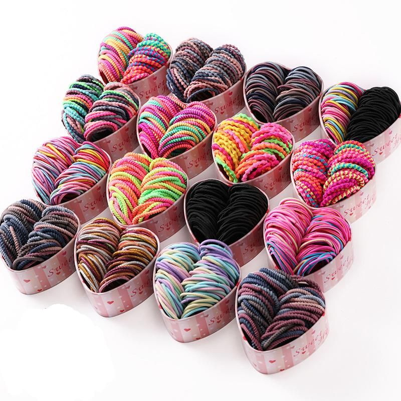Children's rubber band girl hair ring female black baby head rope tied hair girl hair accessories NHNA207441