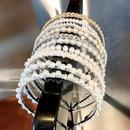 Korean pearl hair band handmade knotted fish line beaded cheap headband wholesale NHNA207448