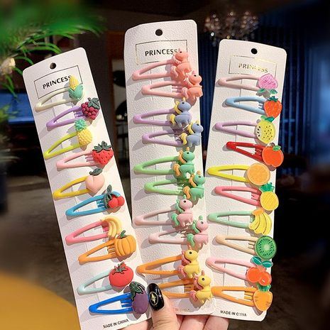 New fashion color cute fruit cartoon cheap hairpin wholesale NHNA207462's discount tags