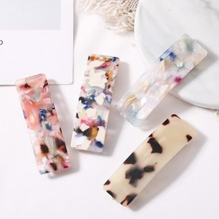 Horquilla de textura de mármol de acetato coreano horquilla simple y barata al por mayor NHNA207464
