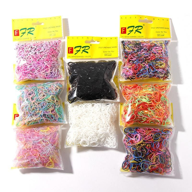 1000 pieces of Korean disposable rubber band cheap scrunchies wholesale NHNA207465