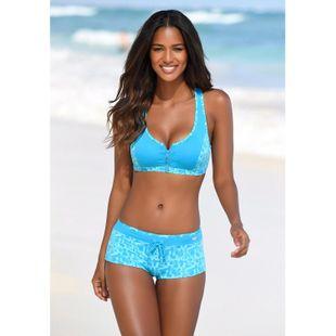 New fashion printed split four corner zipper bikini swimsuit wholesale NHHL207539's discount tags