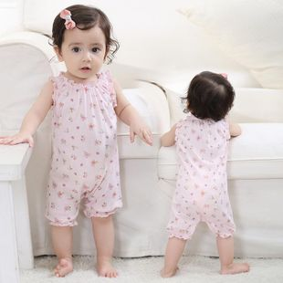 Summer new comfortable cotton floral floral piece vest vest 0-3 years old children's clothing wholesale NHTV207597's discount tags